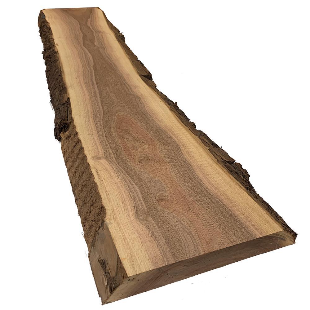 2 in. x 8-12 in. x 2 ft. Walnut Live Edge Sawn Board