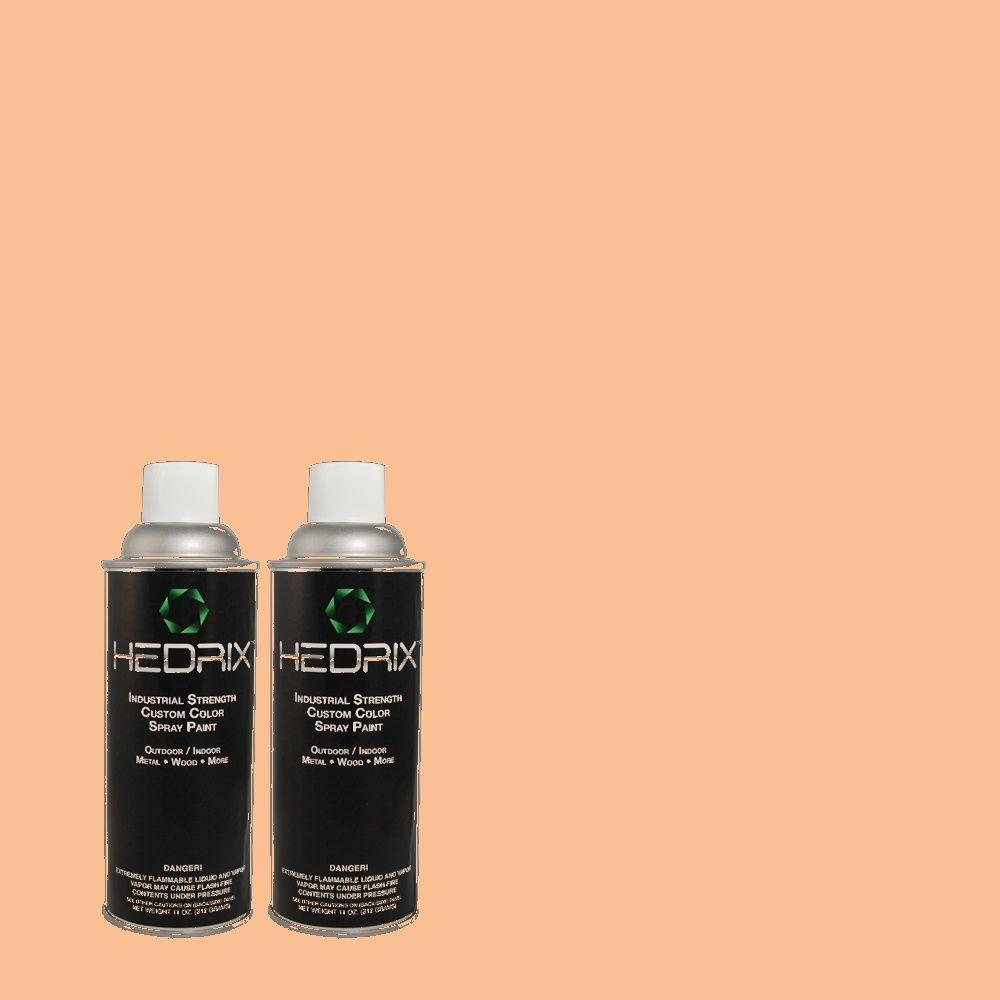 Hedrix 11 oz. Match of 1440 Melonade Low Lustre Custom Spray Paint (2-Pack)
