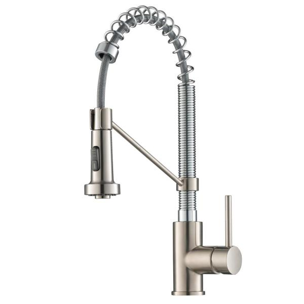 Bolden Single-Handle Pull-Down Sprayer Kitchen Faucet with Dual Function Sprayer in Stainless Steel Chrome