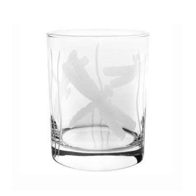 Dragonfly 14 oz. Clear Double Old Fashioned Glass (Set of 4)