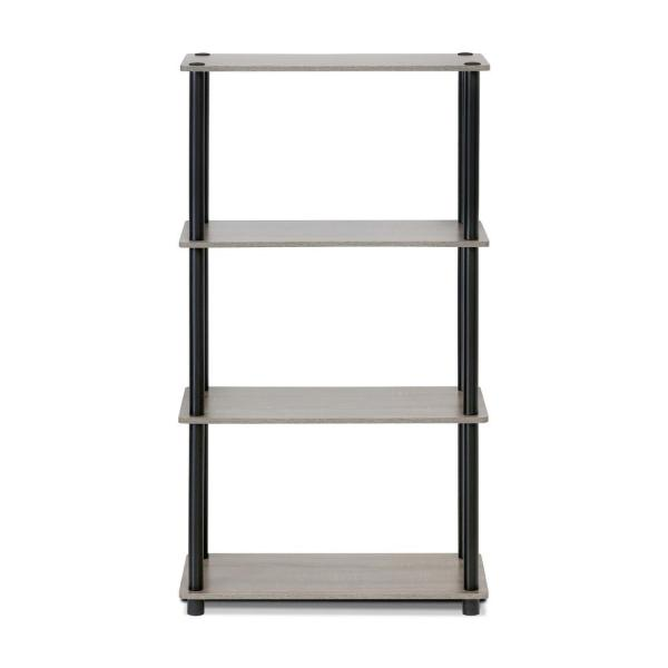 Furinno Turn-N-Tube French Oak Grey Open Bookcase 99557GYW/BK