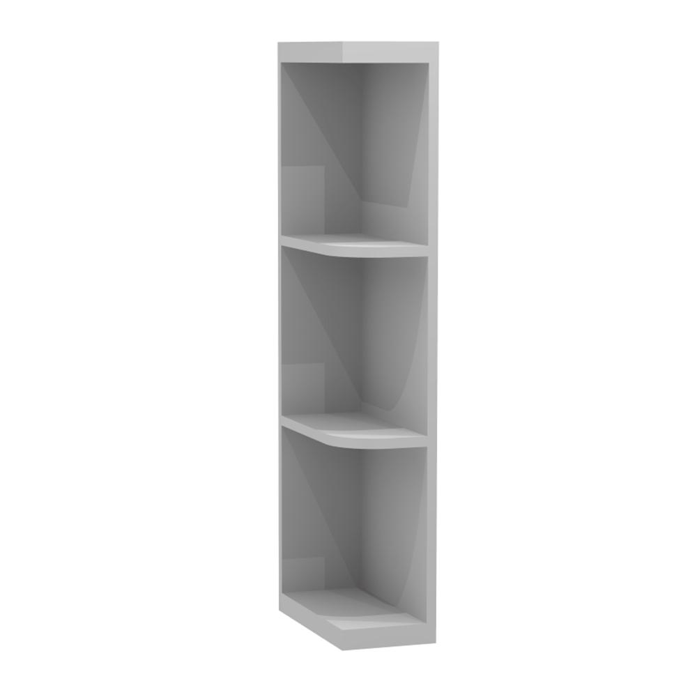 6x36x12 in. Tremont Assembled Open Shelf Wall Cabinet in Pearl Gray