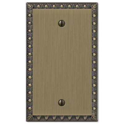 Renaissance 1 Gang Blank Metal Wall Plate - Brushed Brass