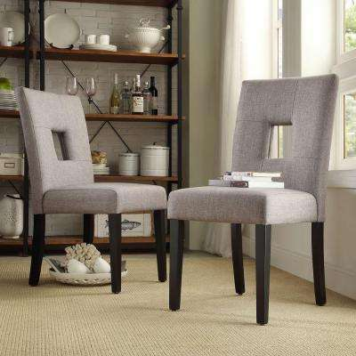 Sorrento Smoke Linen Dining Chair (Set of 2)