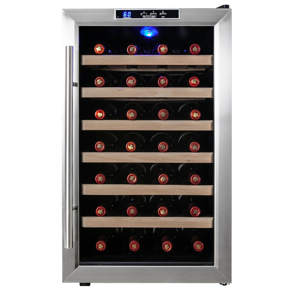 Akdy 28 Bottle Single Zone Thermoelectric Wine Cooler In