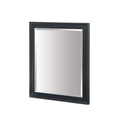 Colorado 32 in. x 24 in. Framed Wall Mirror in Black