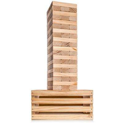 Giant Tumble Tower with 2-in-1 Storage Crate and Game Table