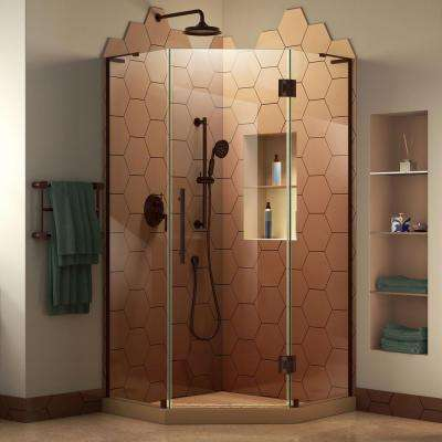 Prism Plus 38 in. D x 38 in. W x 72 in. H Frameless Pivot Neo-Angle Shower Enclosure in Oil Rubbed Bronze Hardware