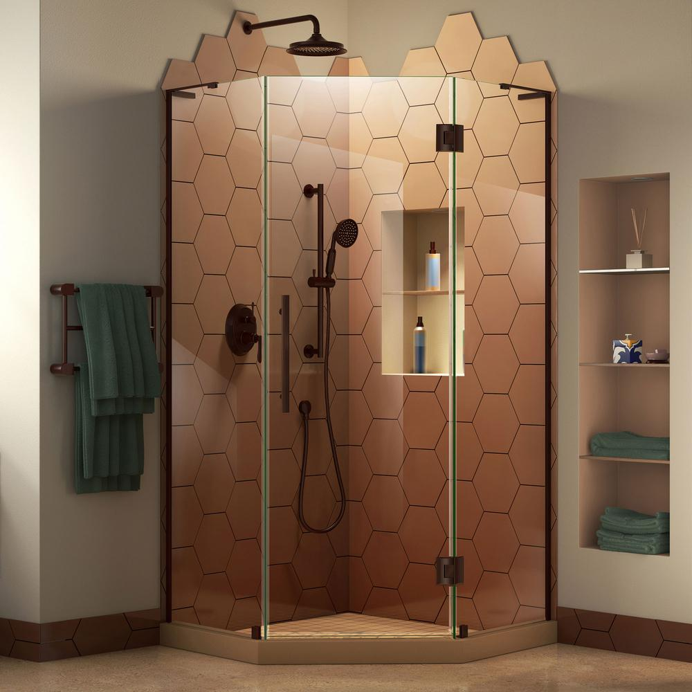 Prism Plus 40 in. W x 40 in. D Frameless Shower