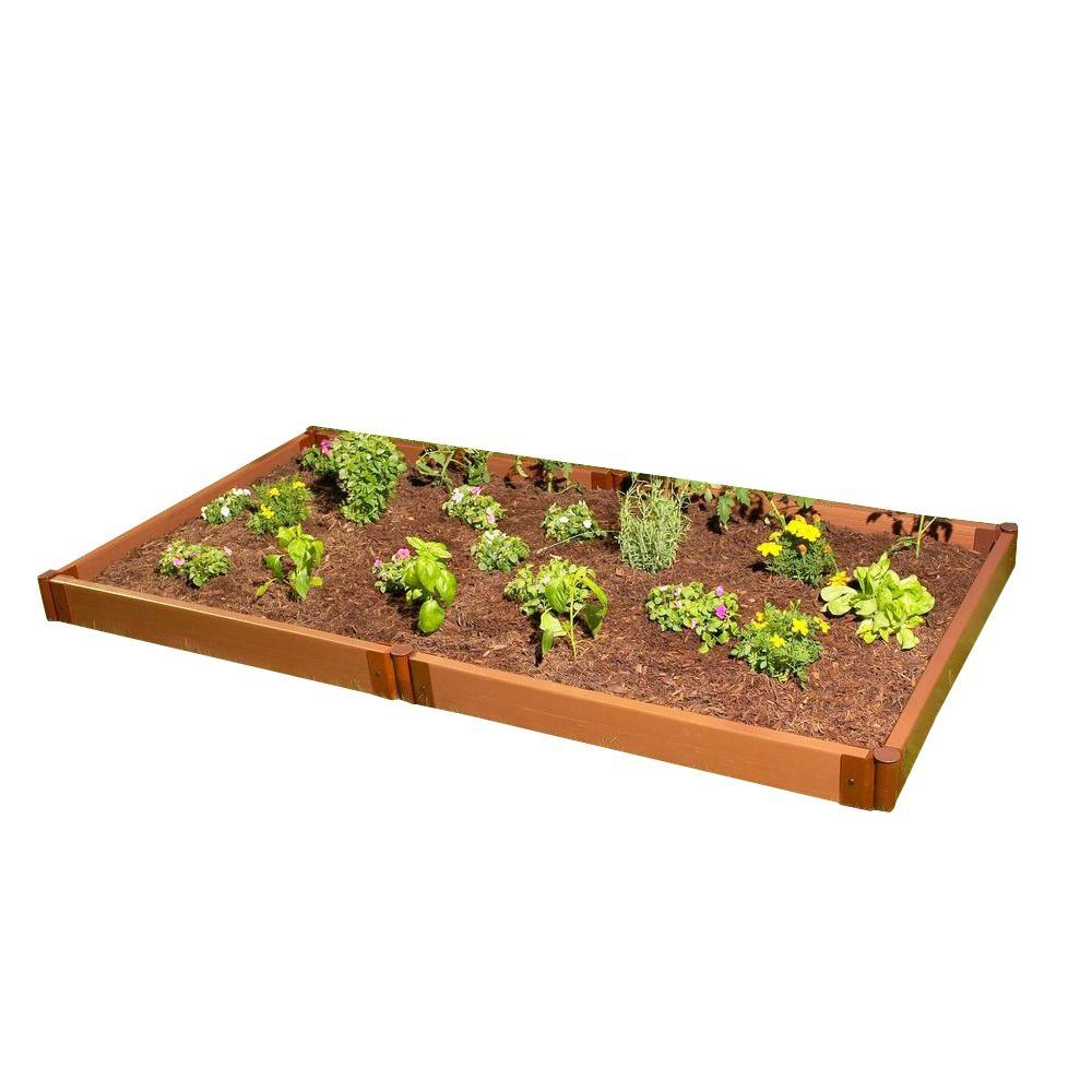 Frame It All Two Inch Series 4 ft. x 8 ft. x 5.5 in. Composite Raised Garden Bed Kit