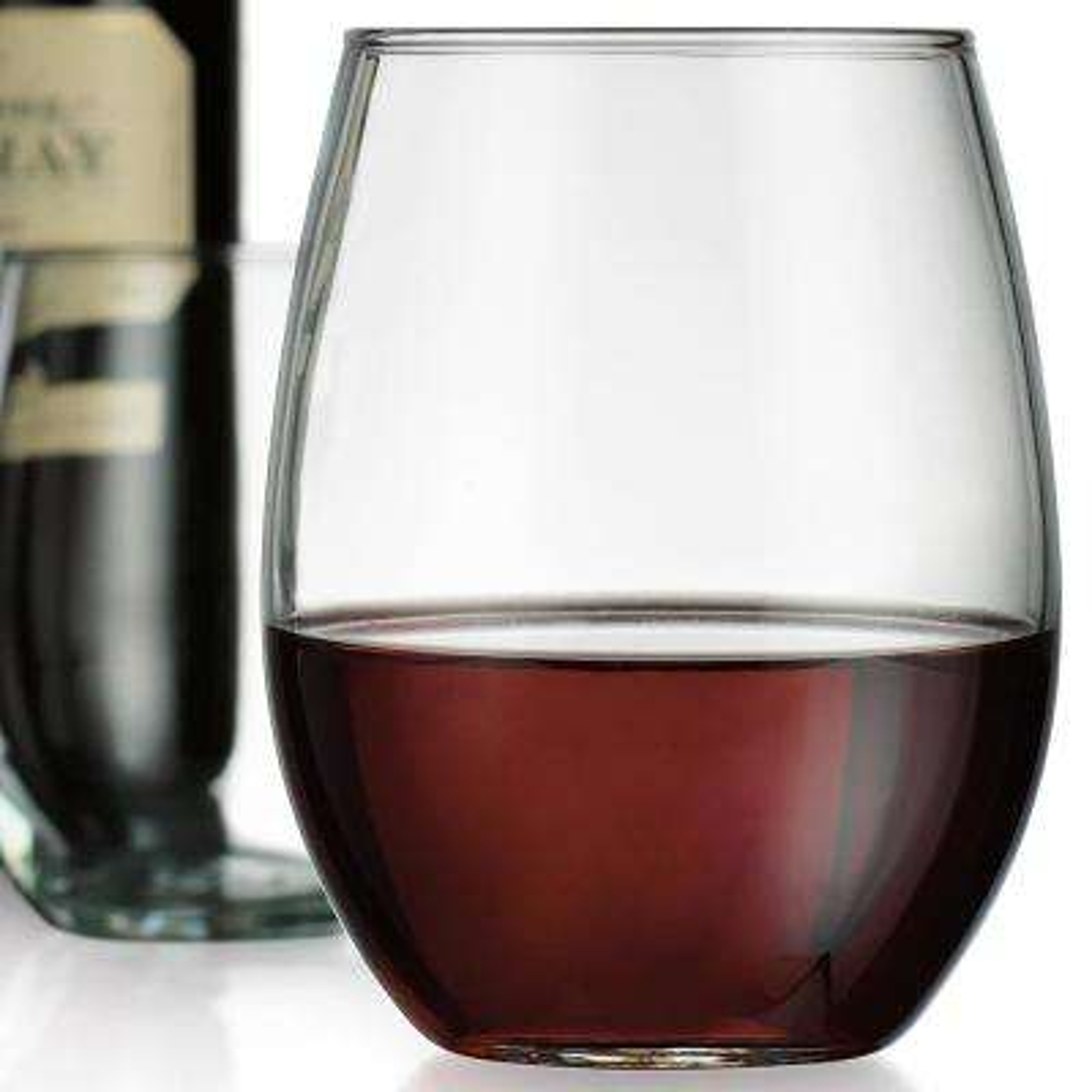 21 fl. oz. Kraft Stemless Wine Glasses (4-Pack)
