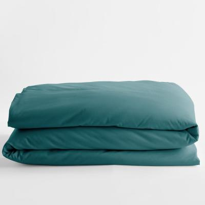 Company Cotton Blue Jay Solid 300-Thread Count Wrinkle-Free Sateen Twin Duvet Cover