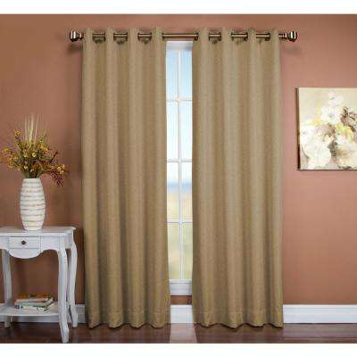 Tacoma 50 in. W x 63 in. L Polyester Double Blackout Grommet Window Panel in Driftwood