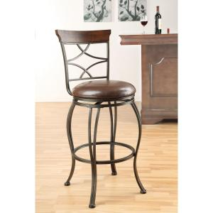 Antique Bronze Swivel Cushioned Bar Stool (Set of 2)-96050 - The Home Depot  sc 1 st  The Home Depot & ACME Tavio 29 in. Antique Bronze Swivel Cushioned Bar Stool (Set ... islam-shia.org