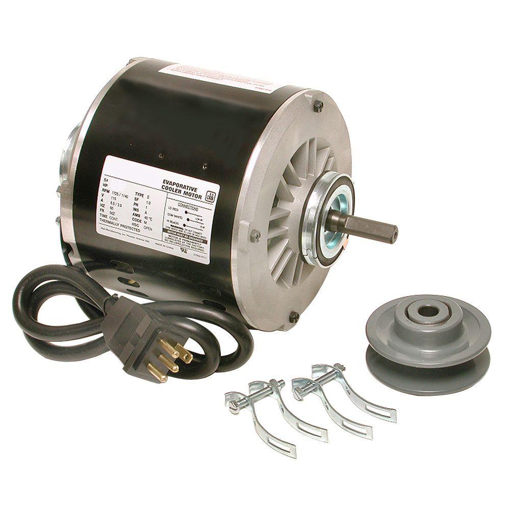 dial 2 speed 3 4 hp evaporative cooler motor kit 2569 the home depot Heat Pump Motor Wiring Diagram