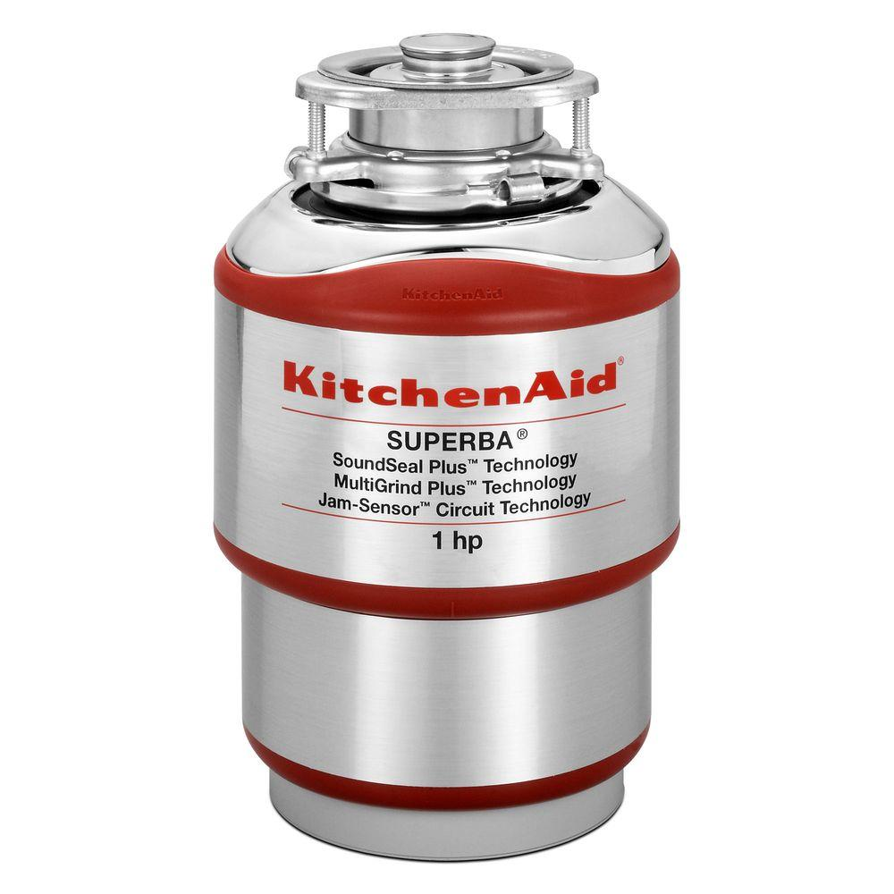 Kitchenaid 1 Hp Continuous Feed Garbage Disposal Kcds100t