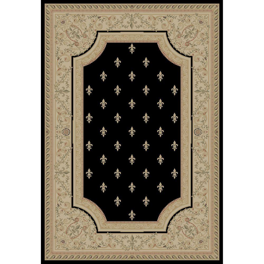 Garland Rug Town Square Black 7 Ft. 6 In. X 9 Ft. 6 In