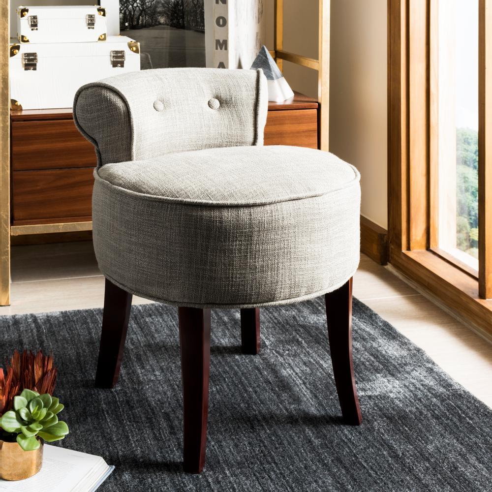 Safavieh georgia stone viscose polyester vanity stool