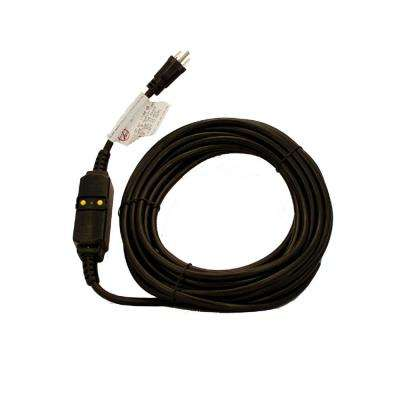 15 Amp 120-Volt 37 ft. Cord Set Straight Blade Automatic Reset GFCI Device, Black