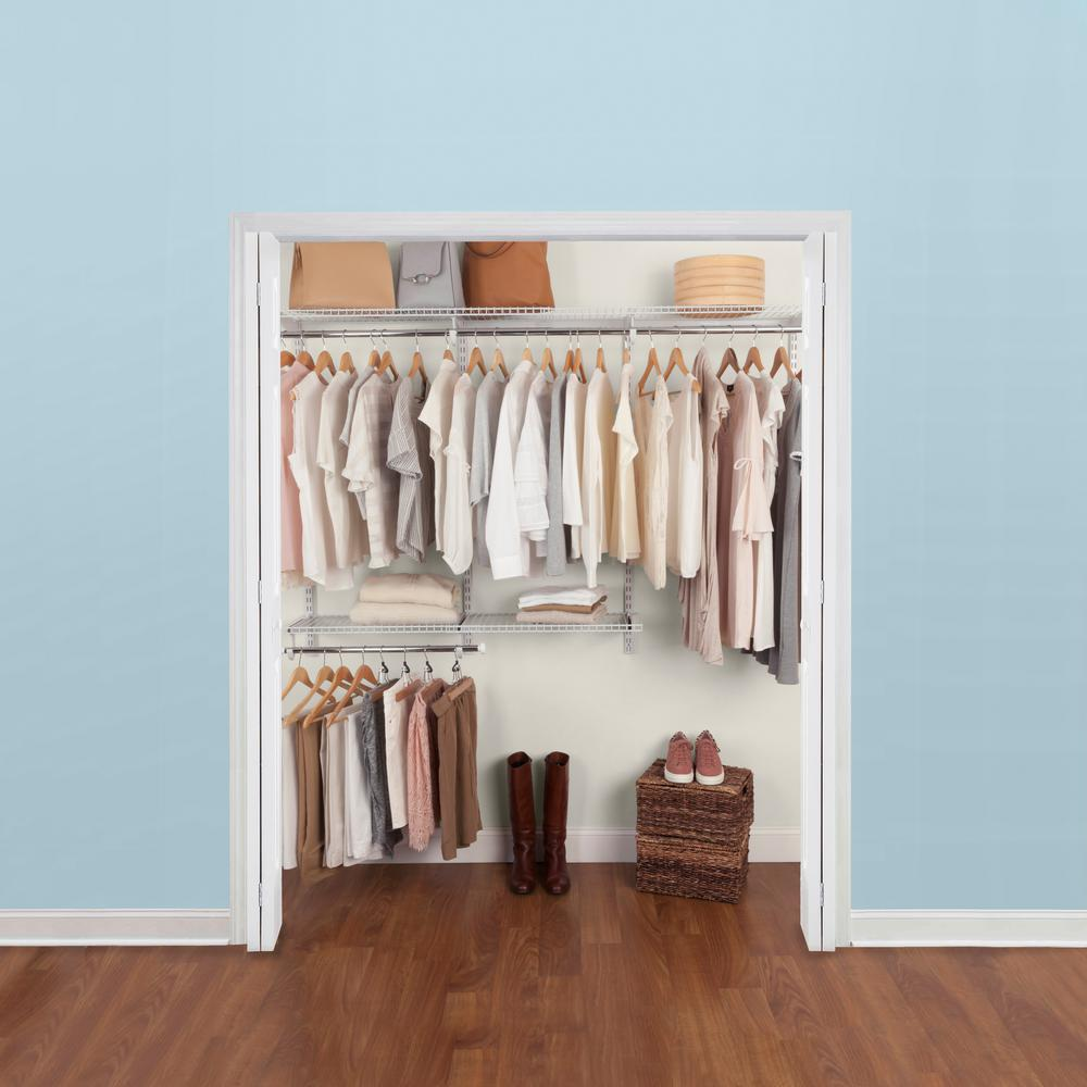 Rubbermaid 36 in. D x 72 in. W x 2 in. H Configurations Custom Metal Closet System 3 - 6 ft. White Deluxe Kit