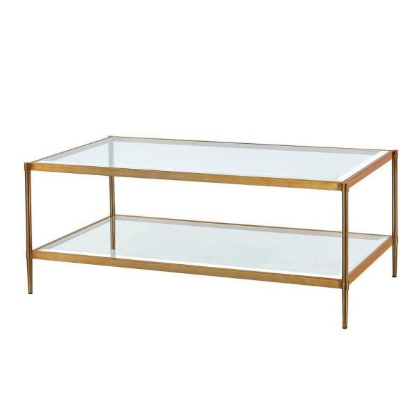 17 72 In Gold Rectangular Coffee Table