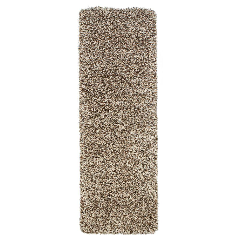 Home Decorators Collection Ultimate Shag Light Brown 2 ft. 6 in. x 8 ft. Rug Runner