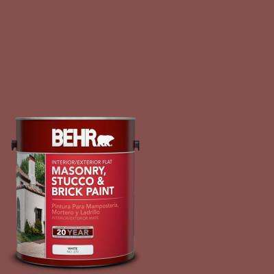 1 gal. #160F-6 Boston Brick Flat Interior/Exterior Masonry, Stucco and Brick Paint