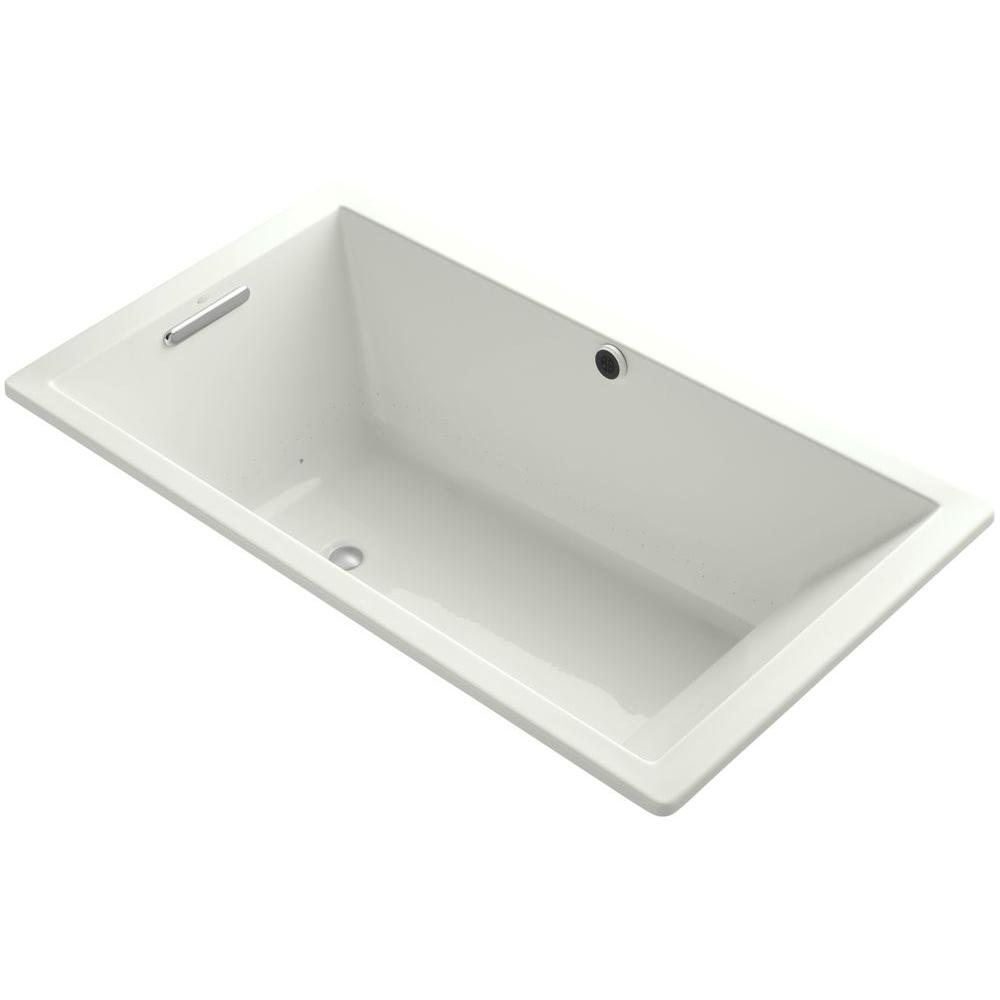 KOHLER Underscore 5.5 ft. Acrylic Rectangular Drop-in Whirlpool Bathtub in Dune
