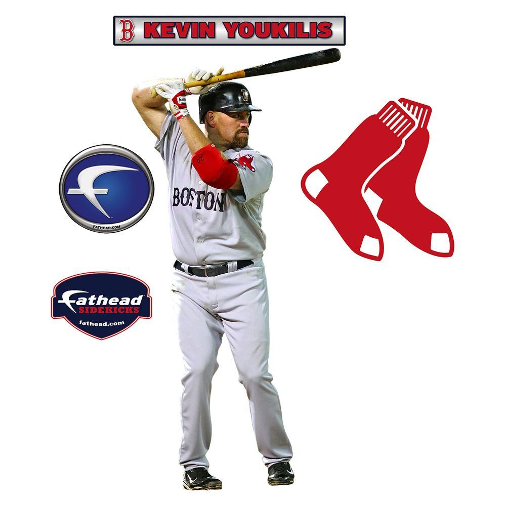 Fathead 16 in. x 34 in. Kevin Youkilis Boston Red Sox Wall Decal