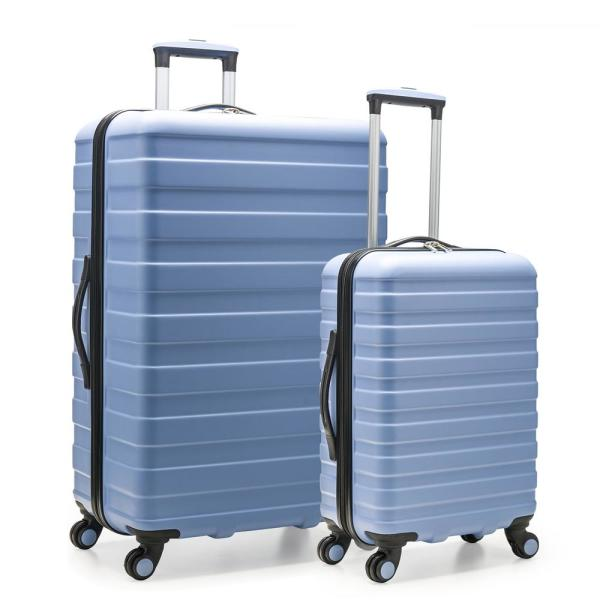 U.S. Traveler Cypress Colorful 2-Piece Sky Blue Small and Large Hardside