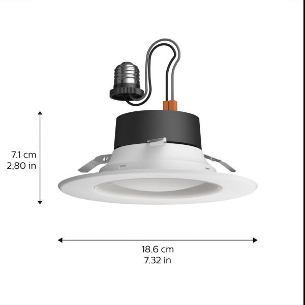 Philips Hue White Ambiance 5 6 Integrated Led Dimmable Smart Wireless Recessed Downlight Retrofit Kit With Bluetooth 802900 The Home Depot