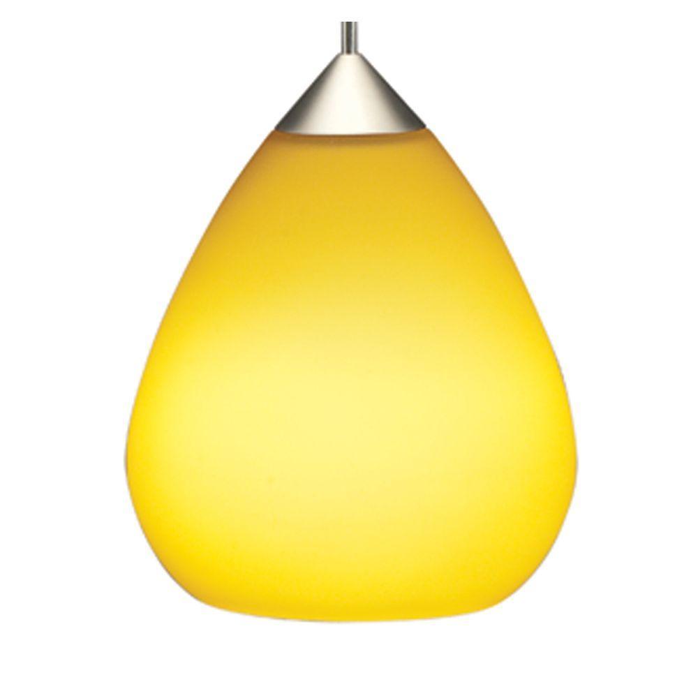 Juno 1-Light Sunset Gold LED Teardrop Pendant Kit