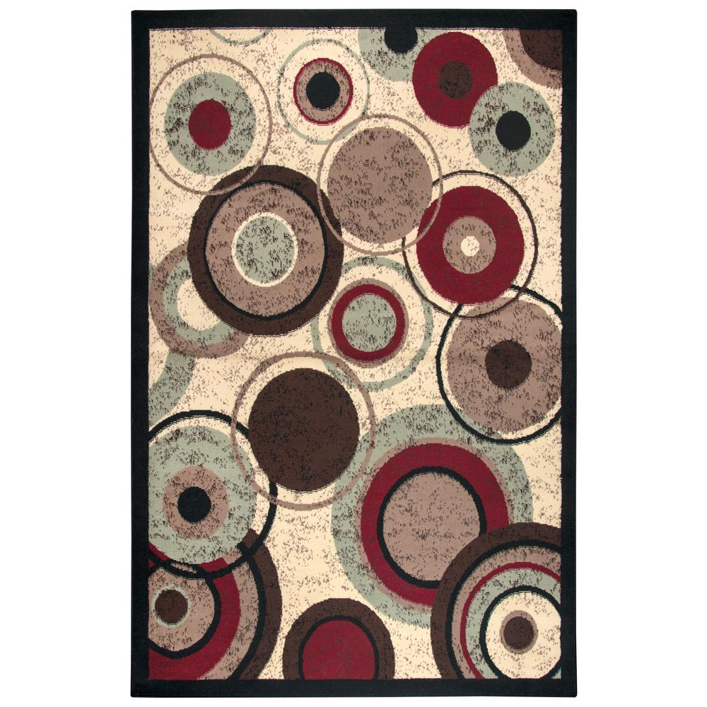 Rizzy home xcite brown geometric machine made 8 ft x 10 for Geometric print area rugs