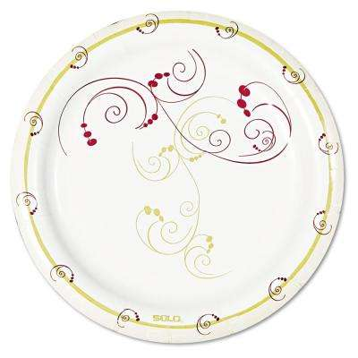 Medium Weight Clay-Coated Paper Plates, Symphony Design, 6 in., 1000 Per Case