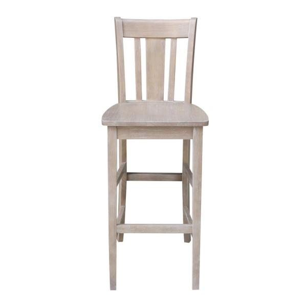 San Remo 29 in. H Weathered Taupe Gray Bar Stool
