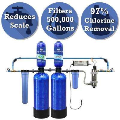 Rhino Series 6-Stage 500,000 Gal. Well Water Filtration System with Simply Soft Salt-Free Water Softener and UV Filter