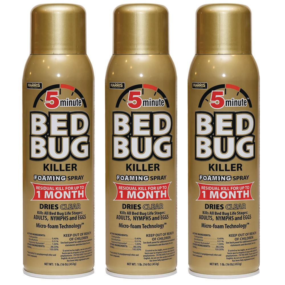16 oz. 5-Minute Bed Bug Killer Foaming Spray/Kills All Life Stages