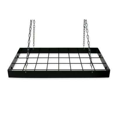 Pot Rack Rect. Black-12 Hooks