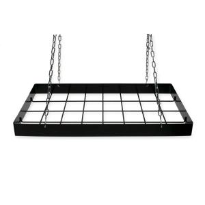 Pot Rack Rect. Black-12 Hooks by
