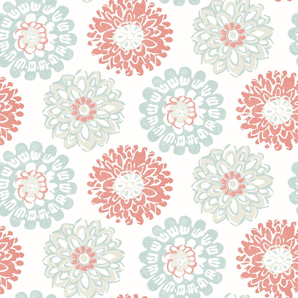Chesapeake 8 In X 10 In Sunkissed Coral Floral Sample 3120