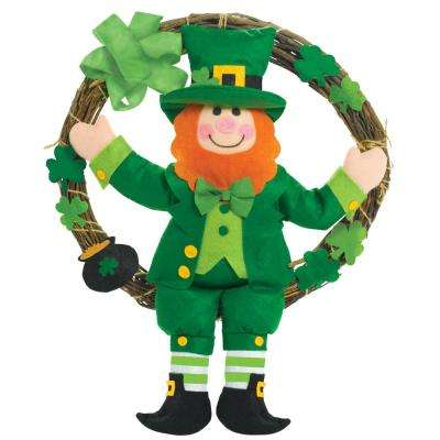 16 in. St. Patrick's Day Leprechaun Grapevine Wreath (2-Pack)