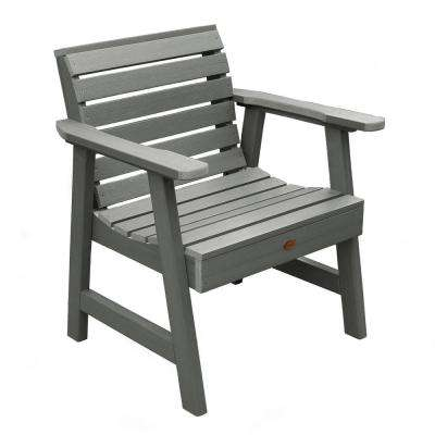 Weatherly Coastal Teak Recycled Plastic Outdoor Lounge Chair