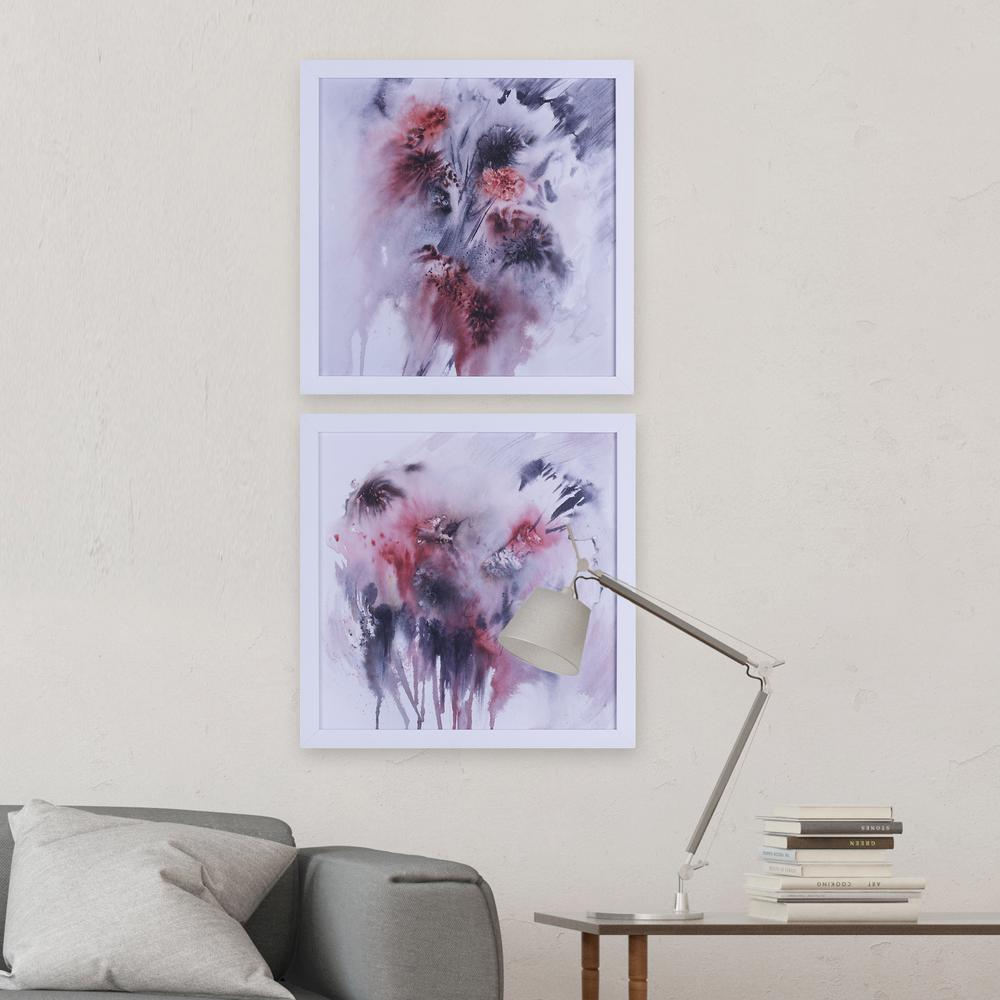 22 in. x 22 in. Rasberry Splash I, Framed Printed Paper