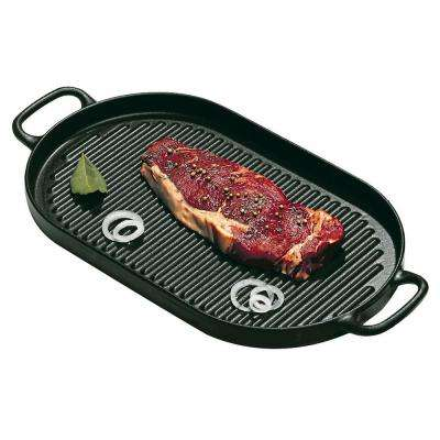13-3/4 in. x 7-7/8 in. Cast Iron Oval Grill