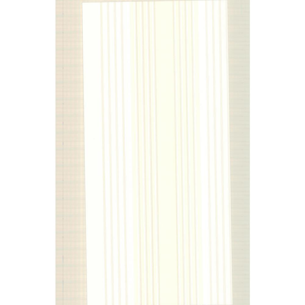 Advantage 8 in. x 10 in. Vickie Light Yellow Stripe Wallpaper