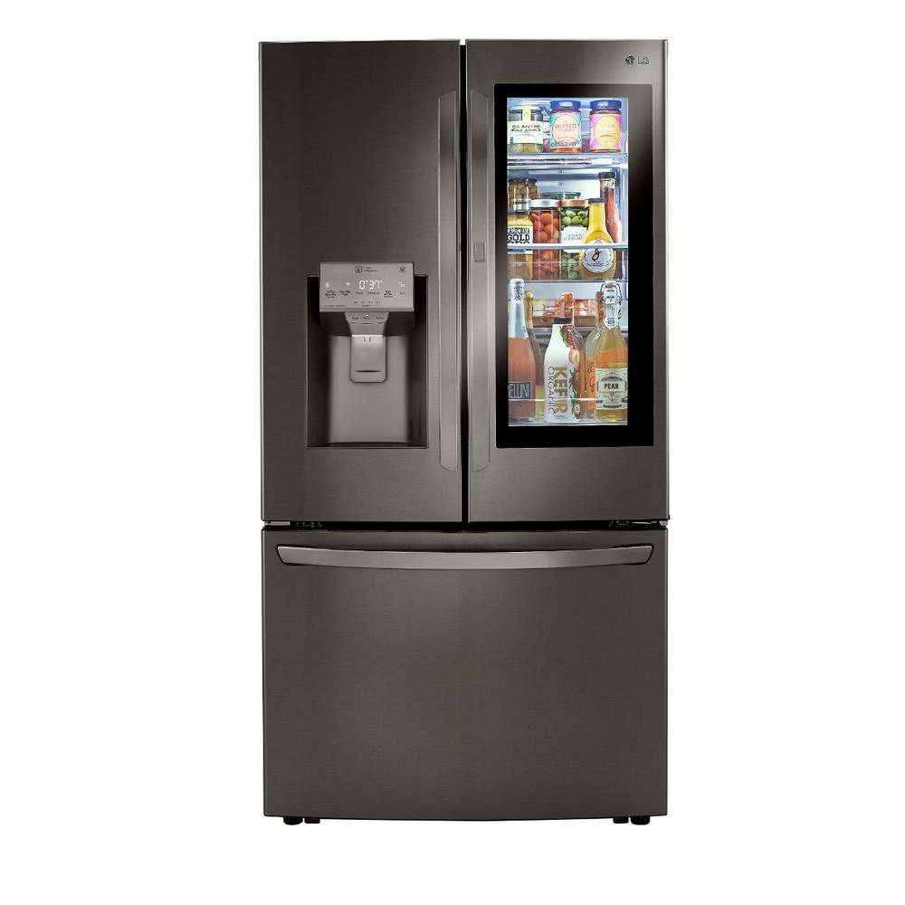 29.7 cu. ft. French Door Refrigerator, InstaView Door-In-Door, Dual Ice w/ Craft Ice in PrintProof Black Stainless Steel