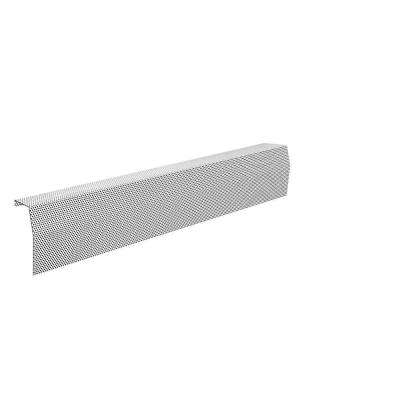 Premium Series 4 ft. Galvanized Steel Easy Slip-On Baseboard Heater Cover in White
