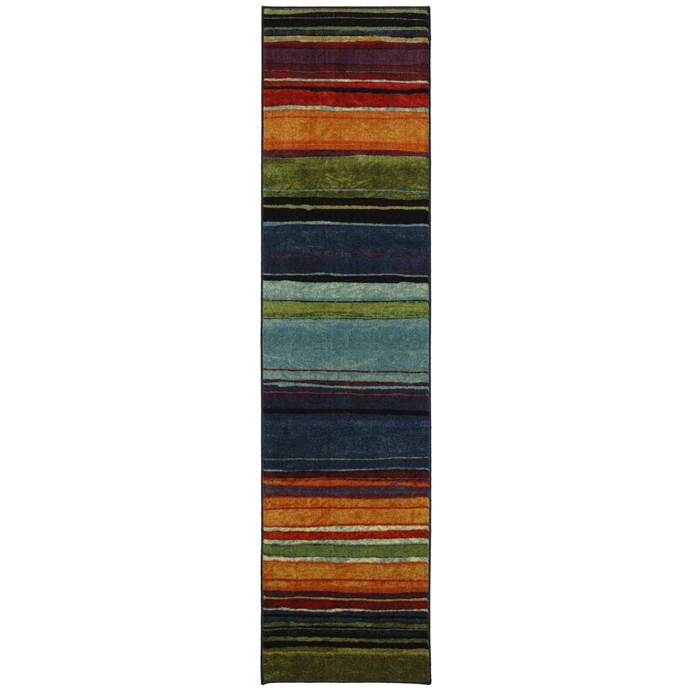 Mohawk Home Rainbow Multi 2 Ft X 8 Ft Indoor Runner Rug 183288
