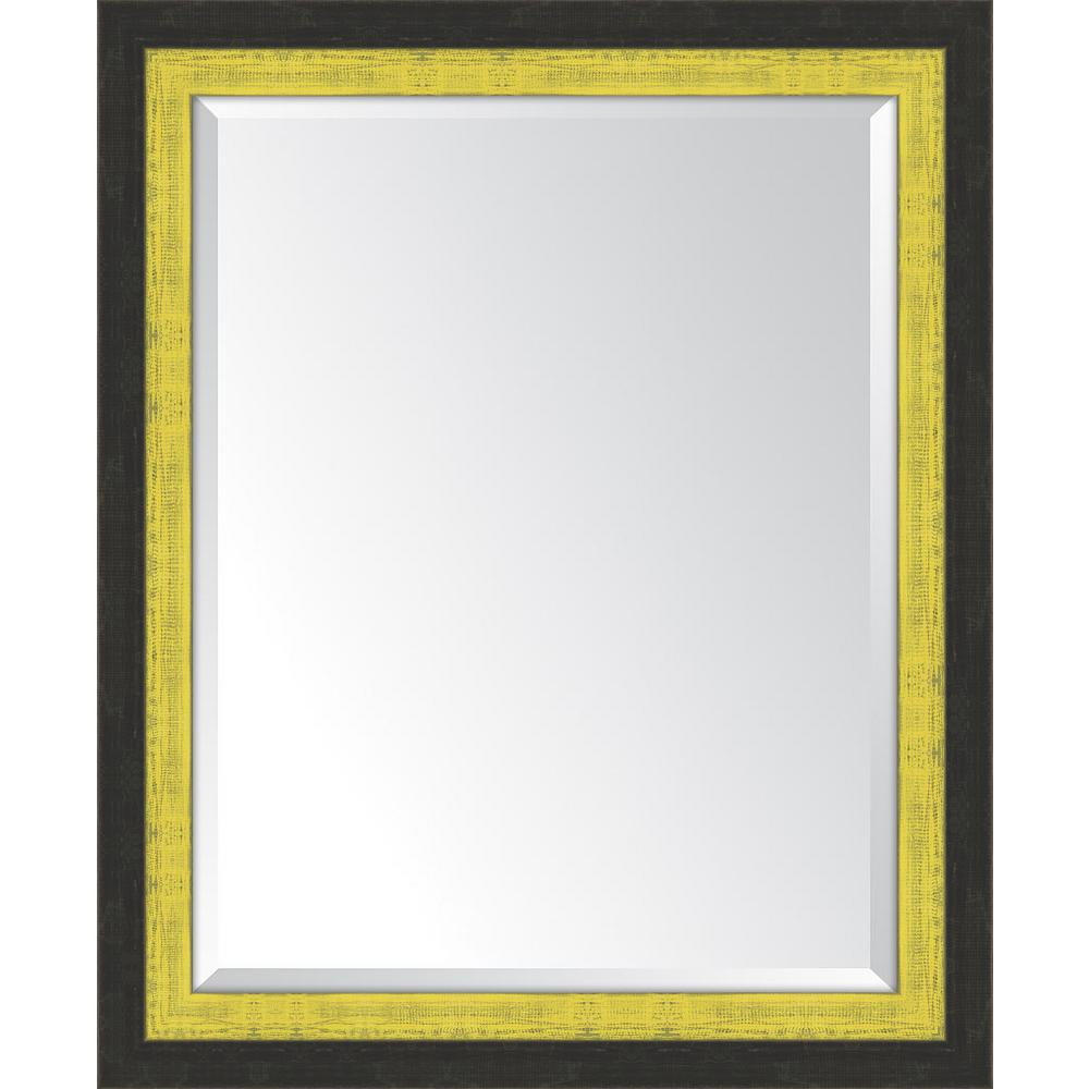 Melissa Van Hise 28 in. x 34 in. Framed Slate Black and Yellow ...