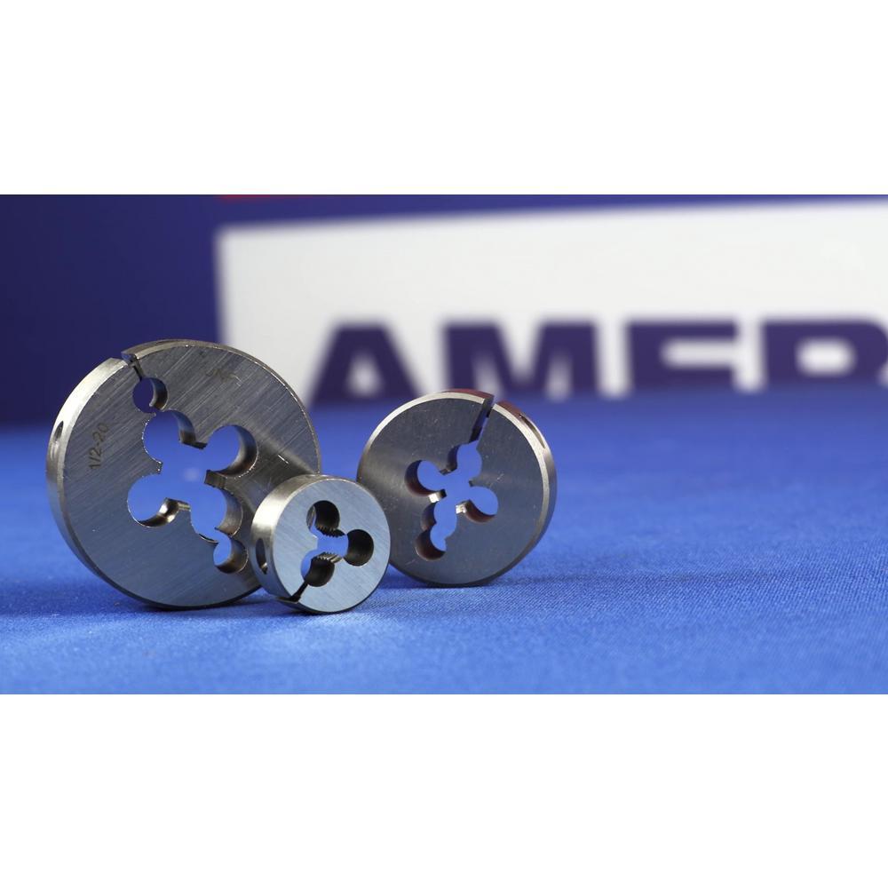 """Drill America 5//16/""""-18 1/"""" OD High Speed Steel Left Hand Round Adjustable Die DW"""